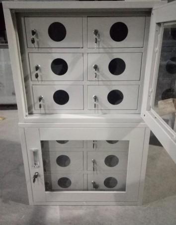6 door locker with view hole